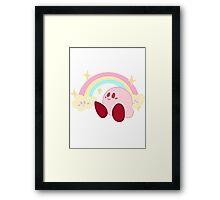 Pastel Rainbow Kirby - Kirby Framed Print