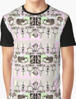 Sepia skulls and mermaids Graphic T-Shirt