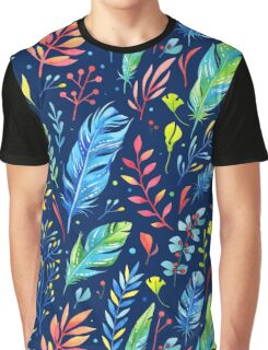 Watercolor Floral Pattern Graphic T-Shirt