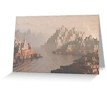Canyon Landscape With River Greeting Card