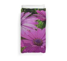 Purple And Pink Tropical Daisy Flower Duvet Cover
