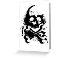 Spray Skull Greeting Card