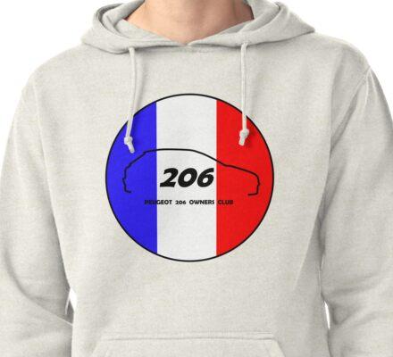 Peugeot 206 Owners Club Pullover Hoodie