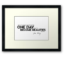 one day become realities - jules verne Framed Print