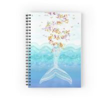 Flying whale Spiral Notebook