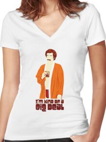 funny t-shirt, A big deal Women's Fitted V-Neck T-Shirt
