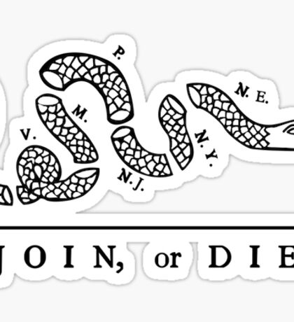 Join or Die, Small Version (see profile for large), United States Military Sticker