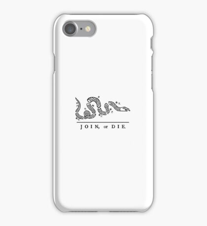 Join or Die, Small Version (see profile for large), United States Military iPhone Case/Skin