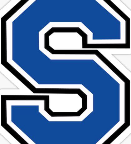 Blue Block Letter S, Small Sticker