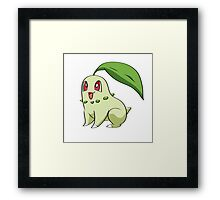 Chikorita Pokemon Framed Print