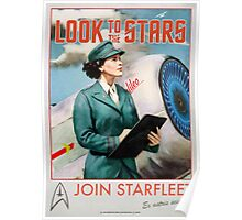 Join Starfleet - Vintage Style Retro Recruitment Poster Poster