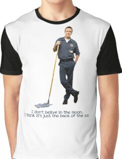 The janitor Moon Graphic T-Shirt