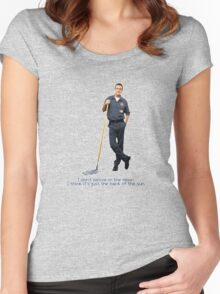 The janitor Moon Women's Fitted Scoop T-Shirt