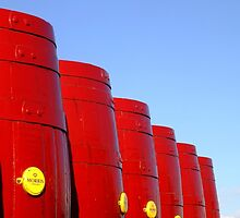 Six Red Barrels by Yampimon