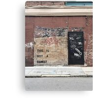THIS IS NOT A BANKSY  Canvas Print