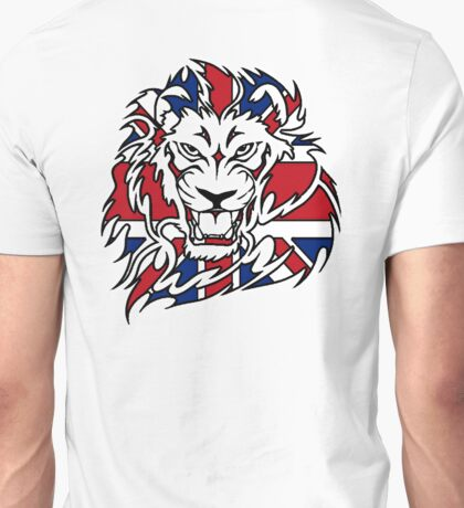 BRITISH, LION, Union Jack, Sport, Big Cat, Cat, Roar, Snarl, King of the Jungle Unisex T-Shirt