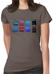 2001 A Space Odyssey HAL 9000 Womens Fitted T-Shirt