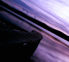 Back Lake Jetty - No.1 - Merimbula ... by Erin Davis