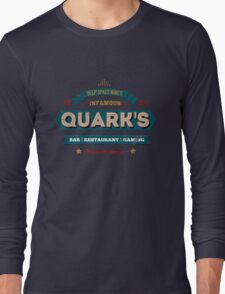 Retro DS9 Quarks Bar Vintage Style design Long Sleeve T-Shirt