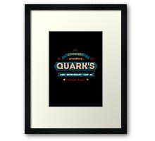 Retro DS9 Quarks Bar Vintage Style design Framed Print