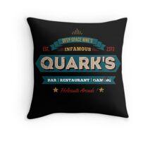 Retro DS9 Quarks Bar Vintage Style design Throw Pillow