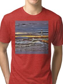 High tide at Seaburn Sunderland Tri-blend T-Shirt