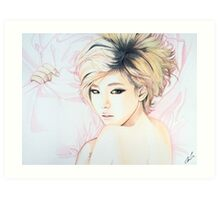 Son Ga In Brown Eyed Girls Watercolor Print Art Print
