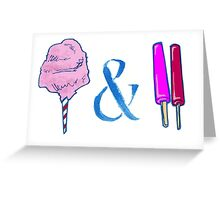 Ampersand Candyfloss&Pops Greeting Card