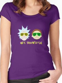 cartoon film tshirt Morty Women's Fitted Scoop T-Shirt
