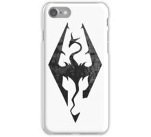 Skyrim inspired minimal print - dragon born, large iPhone Case/Skin