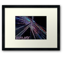 Explore new heights Framed Print