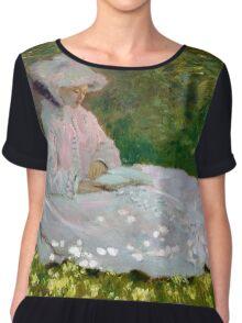 Springtime - Claude Monet - 1872 Chiffon Top