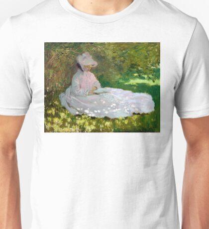 Springtime - Claude Monet - 1872 Unisex T-Shirt