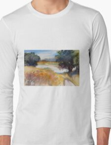 Summer on the River in Russia Long Sleeve T-Shirt