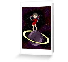 Sci-Fi Chick Greeting Card