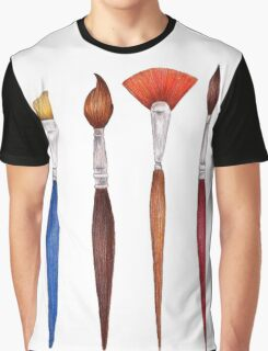 set brushes_color pencil Graphic T-Shirt