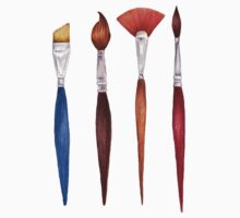 set brushes_color pencil Kids Tee