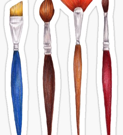 set brushes_color pencil Sticker