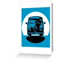 Bus in Sunset or Moonshine Greeting Card