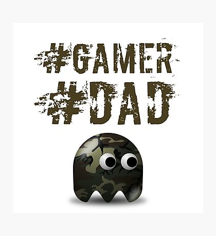 #gamer #dad Photographic Print