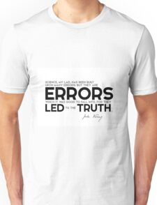 errors led to the truth - jules verne Unisex T-Shirt