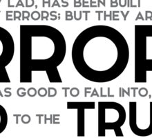 errors led to the truth - jules verne Sticker