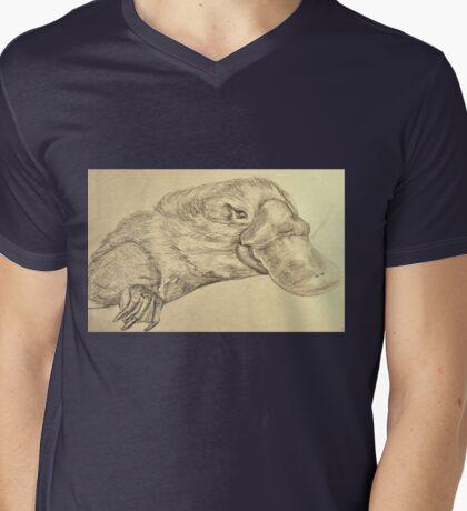 Platypus Mens V-Neck T-Shirt