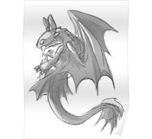 Sketchy Toothless Poster
