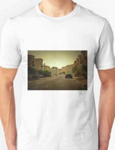 Dark hues in a residential neighborhood with villas  Unisex T-Shirt
