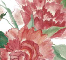 Coral watercolor bouquet Sticker
