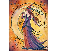 Whimsical Halloween witch by Renee L Lavoie Photographic Print