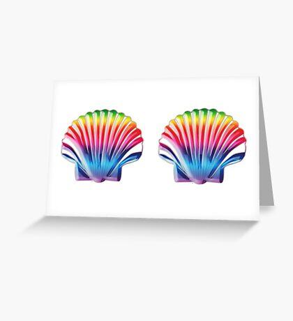 Seashell Bra Greeting Card