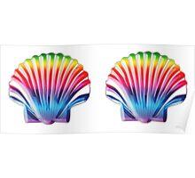Seashell Bra Poster