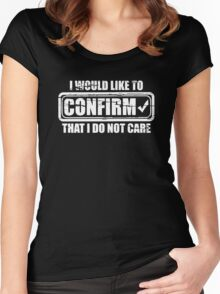 CONFIRM CARE Women's Fitted Scoop T-Shirt